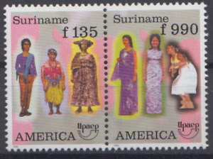 SURINAME 1996 STAMPS UPAEP TRADITIONAL COSTUMES MNH TOP38