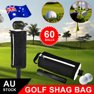 Golf Ball Shag Bag Pick Up Tube Picker Retriever Collector Large Holds 70 Balls