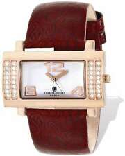 Ladies Charles Hubert Stainless Brown Leather 40x23mm Watch