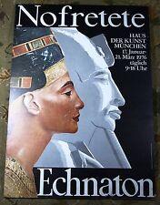 Nofretete Nefertiti Akhenaten Vintage 1976 Munich Germany Exhibition Poster