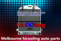 62mm 3 Row Aluminum Radiator For Ford 1932 hot rod w/Chevy 350 V8 engine