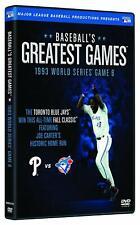 Baseballs Greatest Games 1993 World Series Game 6 DVD Phillies vs Blu Jays NEW