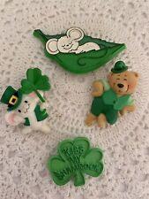 Vintag 80s Hallmark St. Patricks Day Lapel Pins Lot Of Four