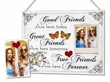 "Best Friends Personalised 8x6"" Unique Gift Sign Photo Friendship Plaque & Magnet"