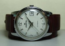 VINTAGE FORTIS AUTOMATIC DATE SWISS MADE MENS WRIST WATCH H571 OLD WBST ANTIQUE