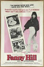 Fanny Hill Vintage Original Erotic X Rated Movie Poster from 1968