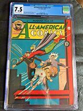 ALL AMERICAN COMICS #29 CGC VF- 7.5; OW-W; Sheldon Mayer art! scarce!