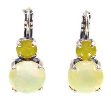 SoHo® Ohrringe geschliffene Kristalle yellow opal bohemia Glas 1960 sabrina gelb