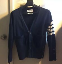 Thom Browne Cardigan with Bar Stripe Navy - Size 1, 100% Cashmere & Authentic