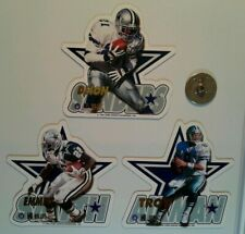 Dallas Cowboys Aikman Smith Sanders NFL football die-cut Fridge Magnet lot (3)