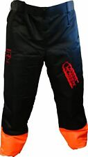 """Logger Clobber Chainsaw Protective Chaps Seatless Trousers Leggings 33"""" - 40"""""""