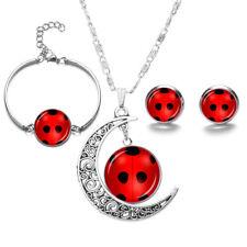 4pcs/set Miraculous Ladybug Cat Noir Cosplay Necklace bracelet earrings Jewelry