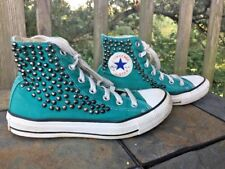 CONVERSE Chuck Taylor Brass Stud Green Athletic Shoes Mens Size 5 Womens 7 👞b8