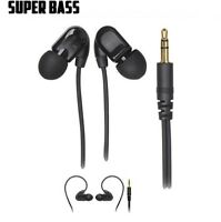 Extra Bass Black Stereo Headphones for MP3 &iPod, for LG, SONY, (Audio Only)