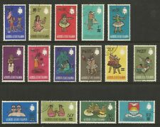 GILBERT & ELLICE ISLANDS 1966, DECIMAL SURCHARGES (15), S.G 110-124 USED (o)