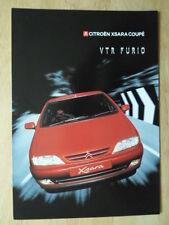 CITROEN XSARA Coupe VTR FURIO 1.8 mi ORIG 2000 UK inchiostri SALES BROCHURE