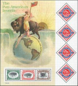 US Stamp S#3505 - (2001) Pan-American Inverts Centenary - 7 Stamp Sheet