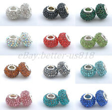 1pcs Top Quality Czech Crystal Rhinestones Spacer Beads Fit European Hole Charms