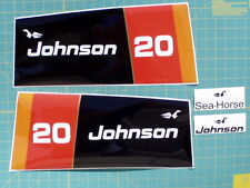 1976 Johnson Outboard Hood Decals  20-25-30-35hp