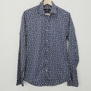 GUCCI Mens Size 38 / 15 Slim Button Up Horsebit Patterned Print Shirt - RARE
