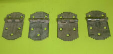4 Vintage Art Deco Hinges Matching Cabinet Hardware Salvage Great Patina