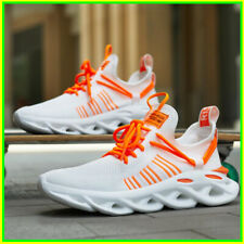 Men Shoes Breathable Light Mesh Sneakers Lace Up Trend Blade Thick Sole Big Size