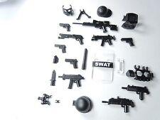 (NO.11-55) custom lego swat police helmet military gun army weapon