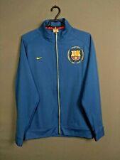 Barcelona Spain Jacket Size M Full Zip Mens Long Sleeve Blue Football Nike ig93