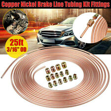 "Copper Nickel Tubing Brake Line Coil 3/16"" 25 ft Roll With 16pc Nuts Fitting Kit"