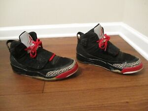 Used Worn Size 10 Nike Air Jordan Son of Mars Shoes Black Red Cement