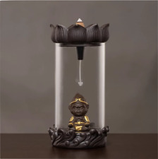 Monkey King Waterfall Design Incense Burner Soothing Aromatherapy w Sample Cones