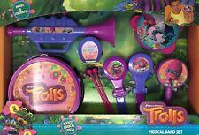 Trolls Musical Band Set Kids Poppy Cooper Branch Trumpet Tambourine Drum Maracas