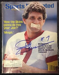 Joe Theismann Signed Sports Illustrated 9/3/84 Issue NFL Redskins