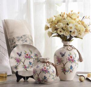 Set of 3 decorative ceramic vases
