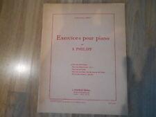 Partition Exercices pour piano par I Philipp