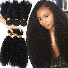 Clearance Curly 100% Peruvian Virgin Human Hair Extensions 3Bundles Weave Weft T