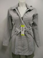 NWT Eddie Bauer Ladies' Waterproof Trench Coat Gray Size SMALL Outdoor Outerwear