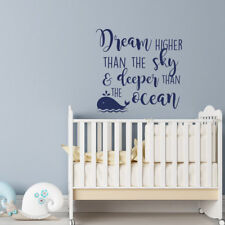 wall stickers custom Dream Higher Than The Sky n Deep vinyl decal decor Nursery