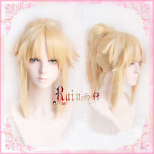Fate/go FGO Saber Mordredモードレッド Cosplay Wig Party Hair braid Tail Golden Wigs