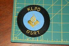 Dutch National Police KLPD DSRT Shoulder Patch
