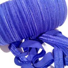 "10 yards royal blue 5/8"" fold over elastic FOE DIY headbands & hair ties"