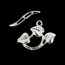 Toggle 3 Leaf  Silver Plated jewellery making Finding Clasp x 10 Set K378