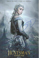 HUNTSMAN Winters War personally signed 12x8 - EMILY BLUNT as THE ICE QUEEN
