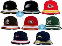 New NFL Team New Era  Stripe Mens Bucket Cap Hat