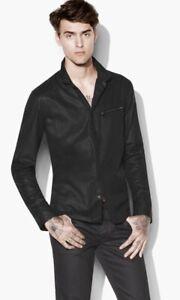 John Varvatos Resin Coated Shirt.  Size Medium. BNWT $498