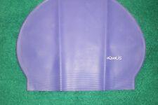 New in Bag AQUALIS Purple Latex Swim Cap - Swimming