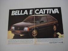 advertising Pubblicità 1982 OPEL KADETT CORSA