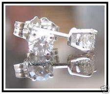 H VS .40CT REAL DIAMOND STUD EARRINGS WHITE GOLD NEW !!