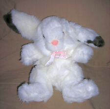 IS Toys  long ear plush  bunny rabbit  white with brown   item 5404    no yellow