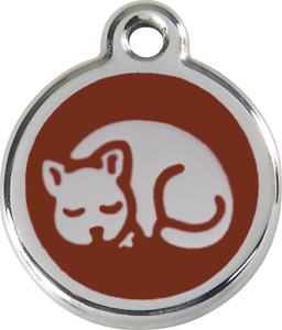 Stainless Steel Red Dingo Small Cat ID Tag Red Purple Blue Green Pink Yellow